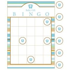 Tiny Toes Blue Bingo Games (10)