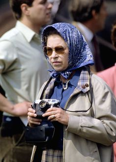 The Queen's Royal Headscarves | The Duchess of Cambridge may have inherited a few photographic tricks from none other than the original shutterbug herself.