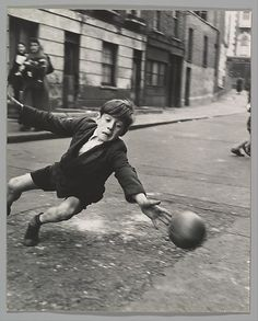 Roger Mayne (British, 1929–2014). Goalie, Street Football, Brindley Road, Paddington, 1956, printed ca. 1957.  The Metropolitan Museum of Art, New York. Gift of Joyce F. Menschel, 2012 (2012.481.13) #MetKids