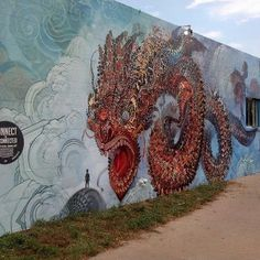 Street Art in Boulder, Colorado.  New Public Mural outside Factory Made Studios on Pearl Street .