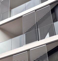 Facade Design, House Design, Balcony Grill, Timber Screens, Modern House Facades, Facade House, Windows And Doors, Architecture Details, Shutters
