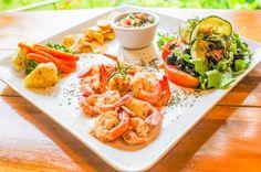 Shrimp plate  Drake Bay Cafe Drake Bay, Osa Peninsula Costa Rica #food #coffee #foodie