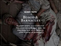 Black Sails Bloody Truth: Blood and Barnacles