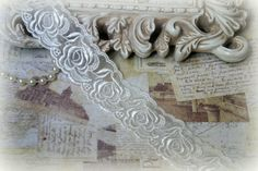 a5b12a2f0d Authentic French Lace Unusual Ivory by TresorsdeLuxe on Etsy
