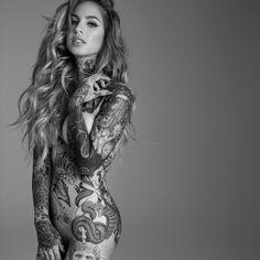 full body tattoo woman