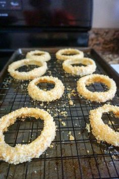 low carb onion rings baking sheet