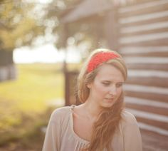 Red Flower Headband  - Bridal Poppy Headpiece