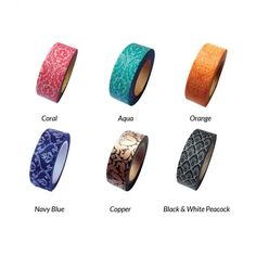 Damask Japanese Paper Washi Tape - Available in 6 Colors! [Decorative Damask Washi Tape] : Wholesale Wedding Supplies, Discount Wedding Favors, Party Favors, and Bulk Event Supplies