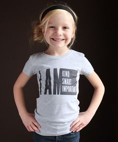 Look what I found on #zulily! Heather Gray 'I AM' Tee - Girls by The Talking Shirt #zulilyfinds