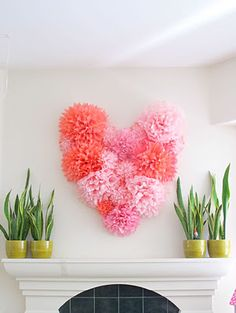 Paper pom poms, image from http://www.silliesmile.blogspot.com/