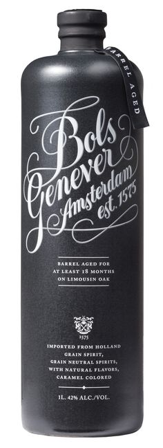 Bols Barrel Aged Genever type typography hand lettering handlettering bottle packaging graphic design