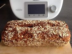 Fitness wholemeal bread super juicy & tasty / recipe of the .-Fitness Vollkornbrot super saftig & saulecker / Rezept des Tages vom Recipe fitness wholemeal bread super juicy & tasty from Thermiqueen Nadine – recipe of the category bread & rolls - Pampered Chef, Recipe Of The Day, Bread Baking, Bread Recipes, Soup Recipes, Diet Recipes, Healthy Life, Brunch, Food And Drink