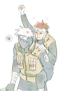 Acho que alguém bebeu saque mais do que devia.. hahahahaha  #NARUTO  Kakashi e Yamato