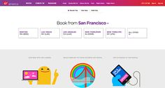 The new Virgin America is all about 'make getting there fun' #design #virginamerica #website http://www.obeymagazine.com/new-virgin-america/