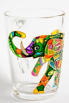 Elephant Mug, Indian Elephant, Coffee Mug, Elephant Art