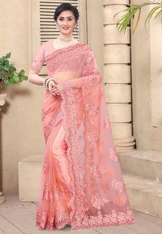 Indian Designer Sarees, Latest Designer Sarees, Black Net Saree, Indian Bridal Couture, Net Blouses, Traditional Sarees, Pink Saree, Indian Ethnic Wear, Party Wear Sarees