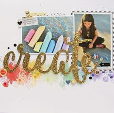 Create layout by Nicole Nowosad - Adding texture with stamping with Nicole Nowosad | Scrapbook & Cards Today magazine - includes process video #sctmagazine #nicolenowosad #processvideo #stamping