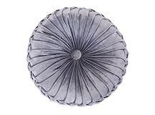 Bay Round Velvet Cushion, Cygnet Grey