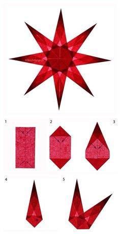 December Advent Week One The Light Of Crystal Stone White Window Folding Instructions