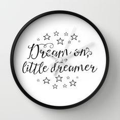 Dream on, little dreamer Wall Clock