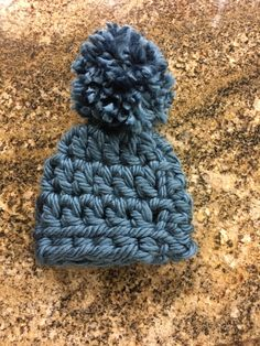 b9f5a9eb9d1 Items similar to Warm Crochet Baby Beanie with or without Pom-Pom
