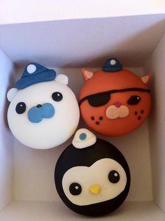 Octonauts: Character Cupcakes by Custom Cupcakes Boy Birthday Parties, 4th Birthday, Birthday Ideas, Birthday Cake, Cupcake Ideas, Cupcake Toppers, Cupcake Cakes, Personalised Cupcakes, Custom Cupcakes