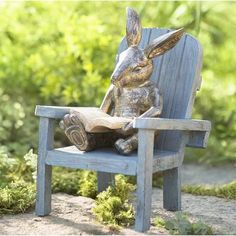 Mcphee Reading Rabbit Garden Statue