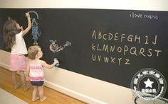 chalkboard - sticks to wall - contact paper type stuff