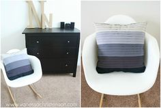 DIY: Faux pleated pillow