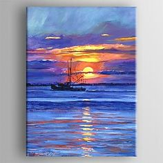 David Lloyd Glover Salmon Trawler at Sunrise art painting for sale; Shop your favorite David Lloyd Glover Salmon Trawler at Sunrise painting on canvas or frame at discount price. Hand Painted Canvas, Canvas Wall Art, Canvas Prints, Sunrise Painting, Sky Painting, Action Painting, Fine Art, Artist Canvas, Oeuvre D'art