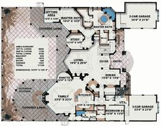 Stunning Two-Story Luxury Home Plan - 66070WE | Florida, Mediterranean, Luxury, Photo Gallery, Premium Collection, 1st Floor Master Suite, Butler Walk-in Pantry, CAD Available, Den-Office-Library-Study, Elevator, MBR Sitting Area, Media-Game-Home Theater, PDF | Architectural Designs