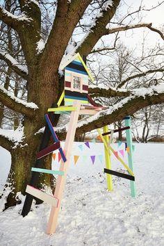 Kids treehouse snow play