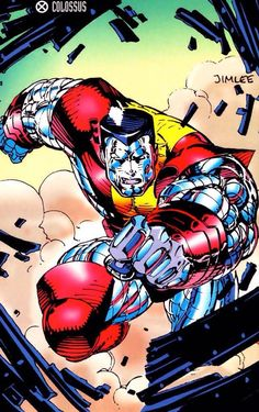 Colossus by Jim Lee - X-Men / Marvel Comics (Colossus and Negasonic teenage warhead were the only good things about the DEADPOOL movie!!!)