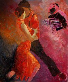 Tango Painting by Pol Ledent -PRINT