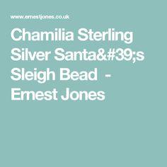 Chamilia Sterling Silver Santa's Sleigh Bead - Ernest Jones