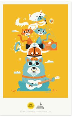 Pets Rock Posters from Yummy Fresh grain feed! by Dave Children's Book Illustration, Graphic Design Illustration, Kitsch, I Miss My Cat, Deco Kids, Pet Rocks, Rock Posters, Illustrations And Posters, Graphic Design Inspiration