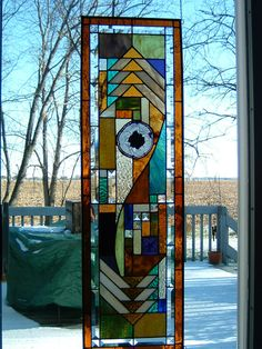 Custom Stained Glass Prairie Panel by islandglass1 on Etsy