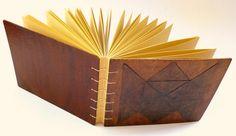 livro artesanal, encadernação copta
