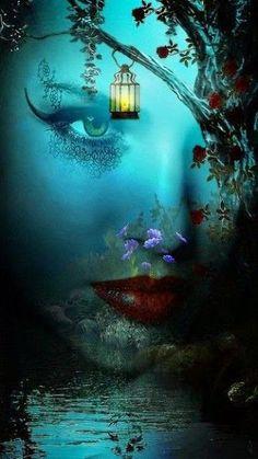 through the mystic. so dark and mystic 3d Fantasy, Fantasy Kunst, Fantasy World, Fantasy Life, Sacred Spirit, Fairy Art, Mythical Creatures, Belle Photo, Amazing Art