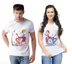 Couple Tshirts Trendy Couple T-Shirts Fabric: Cotton Blend Sleeves: Half Sleeves Are Included Size: S M L XL XXL( Refer Size Chart) Length: Refer Size Chart Type: Stitched Description: It Has 2 Pieces Of T-Shirts Work: Printed Country of Origin: India Sizes Available: S, M, L, XL, XXL   Catalog Rating: ★4 (481)  Catalog Name: Briar Standard Cotton Blend Couple T-Shirts Vol 7 CatalogID_95831 C79-SC1940 Code: 354-830413-1611