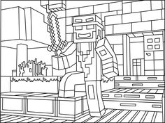 Minecraft Ninja coloring page