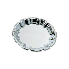 Creative Gifts International Chippendale Stainless Steel Tray Size: W x D, Customize: Yes Stainless Steel Manufacturing, Round Wood Coffee Table, Silver Trays, Metal Mirror, Ribbon Design, Engraved Gifts, Creative Gifts, Brown And Grey, Crystals