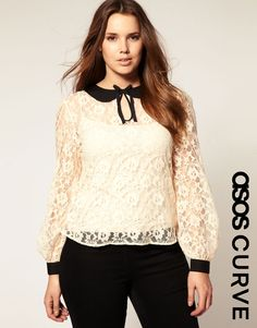 This lovely number was featured on the TODAY show on February 7 2012. This lace top from ASOS makes a great outfit to wear to the office! Check it out on http://madisonplus.com/the-dish/ Love