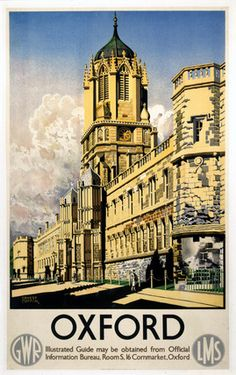 'Oxford', GWR/LMS poster, 1938.