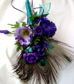 Peacock Wedding Bouquets | Peacock Feather Bouquets Bridal Bouquet Budget Custom for Ashley