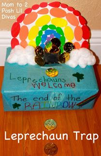 child made Leprechaun trap for St. Patrick's Day