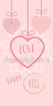 Valentines Day or Wedding Day greeting card hearts, festive pink hand made background Vector template. Romantic poster. Love, Romance Event, banner, e-card, Typography postcard envelope. Advertising, Calligraphy retro design — Stock Vector © sofiartmedia.gmail.com #140597486
