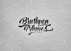 Brush Pen Names by mister kams   I am practicing daily with the brush pen these days. I tried a few diferent brands but I am definitely most happy with my ZIG Kuretake Brushpen and my Tombow ABT. I have been developing a few styles and skills and Im enjoying the process while learning at the same time how to get the best out of the tool. Here I decided to start with a personal project, and, whats more personal than family names?