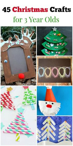 45 Christmas Crafts for 3 Year Olds! There are so many fun ideas for Christmas crafts for preschoolers here. Just love all the simple and unique ideas. Preschool Christmas Crafts, Christmas Arts And Crafts, Christmas Projects, Christmas Themes, Kids Christmas, Holiday Crafts, Easy Christmas Crafts For Toddlers, Diy Crafts For 3 Year Olds, Christmas Ideas For Toddlers