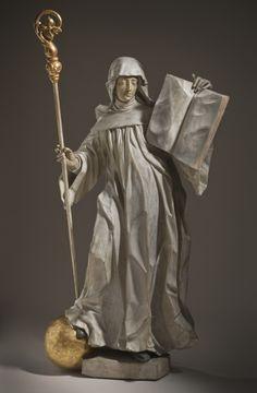 theraccolta:Saint ScholasticaCircle of Ignaz Günther (Germany, Bavaria, 1725-1775)